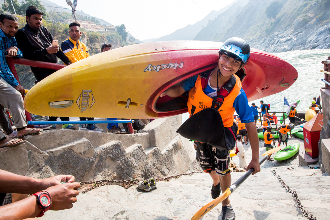 Manish Rawat - 15-year-old Manish Rawat was the youngest participating kayaker to participate in the Ganga Kayak Festival in 2017. He won the top spot at the Mass Boater Cross event.
