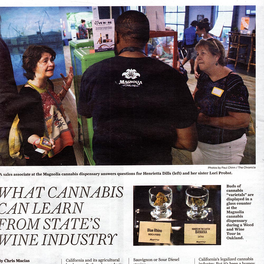 Magnolia Oakland featured in the SF Chronicle article comparing the cannabis industry to the wine industry.