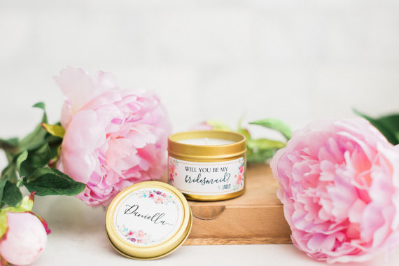 Bridesmaid Soy Candles by  FreshlyScented .