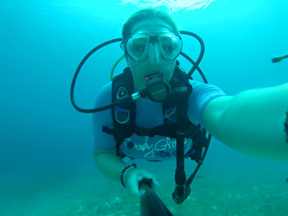 There's always time for a selfie, even underwater.