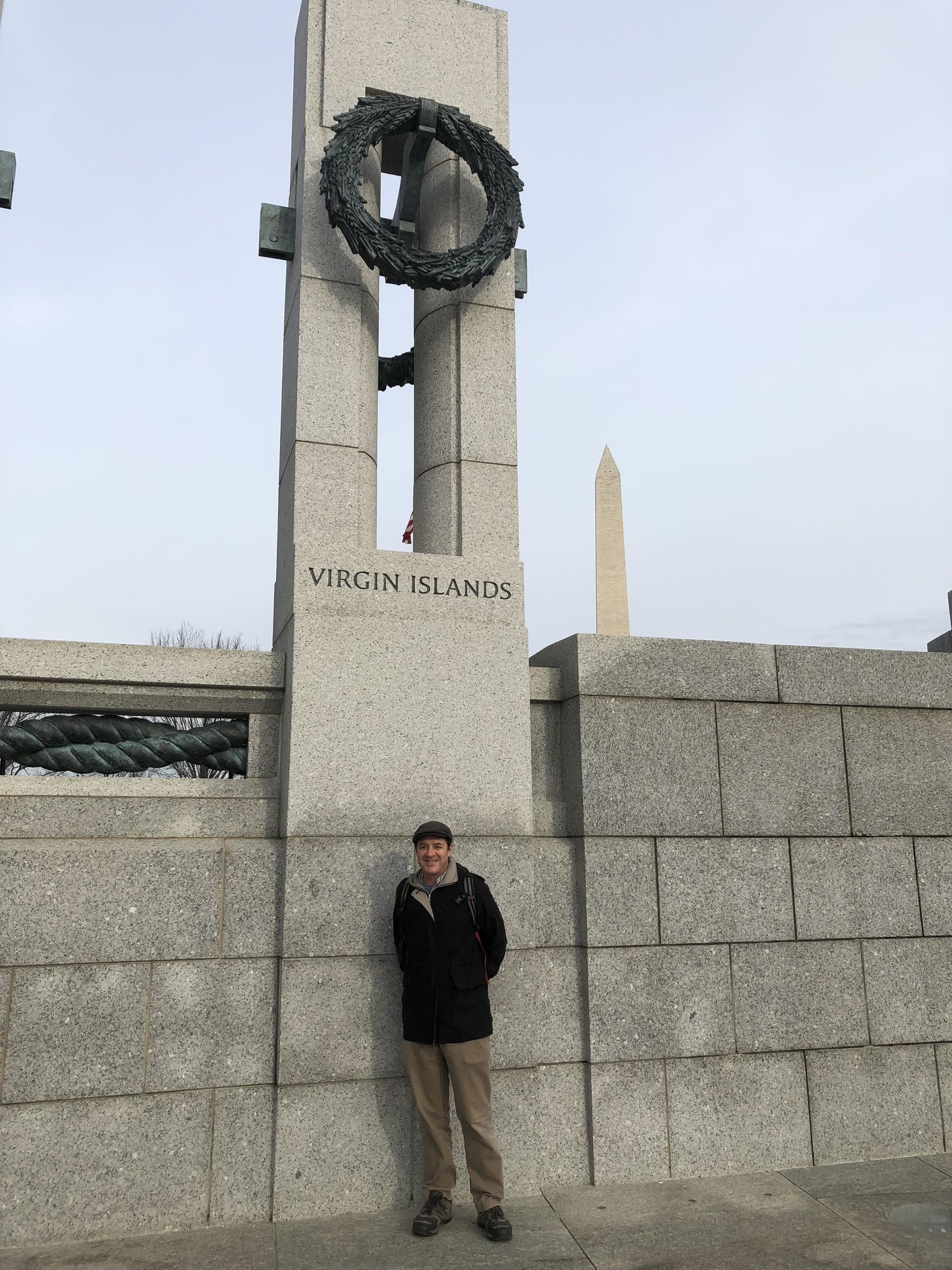 Dr. Smith seen here at the National World War II Memorial in Washington, D.C.