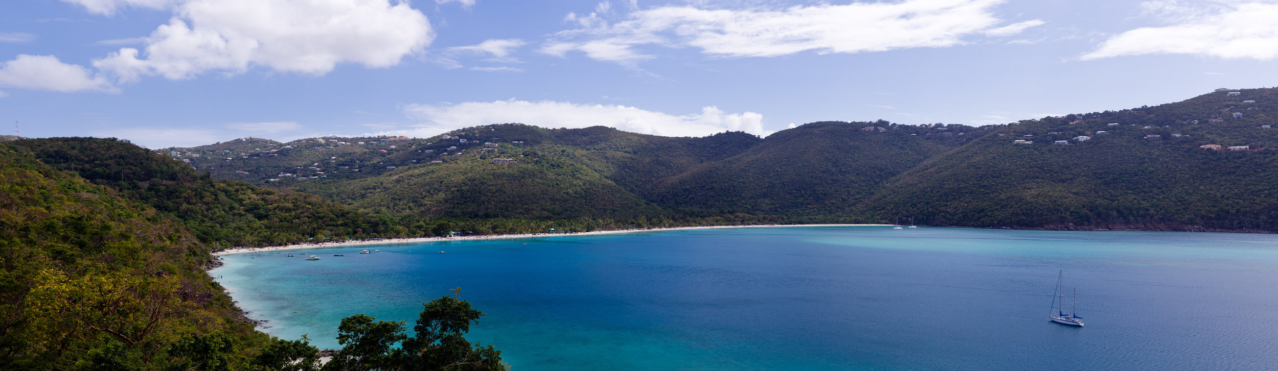 Magens Bay is located on the north side of St. Thomas within a 319 acre preserve gifted to the people of the U.S. Virgin Islands by Arthur S. Fairchild.