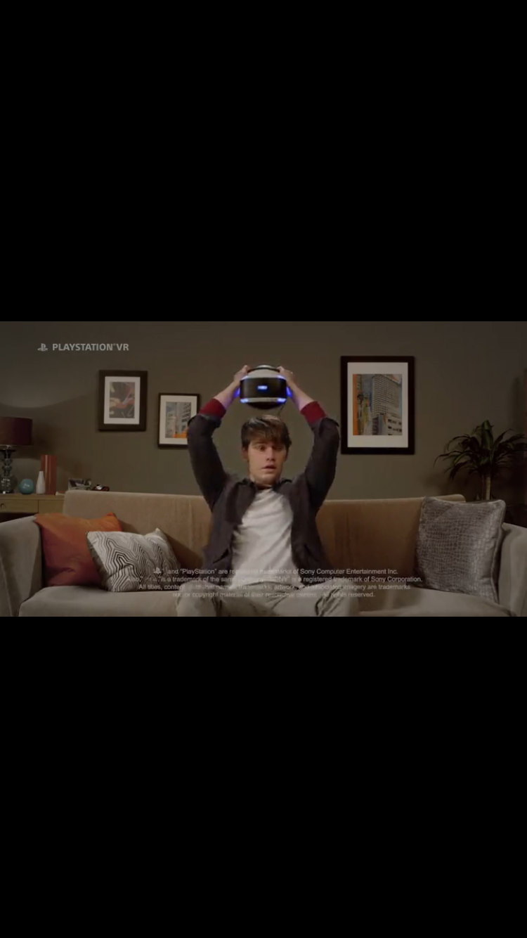 Still from PlayStation VR ad,2016. Alone with no friends... on-soap.com On Soap Soap London Soap Podcast on-Soap