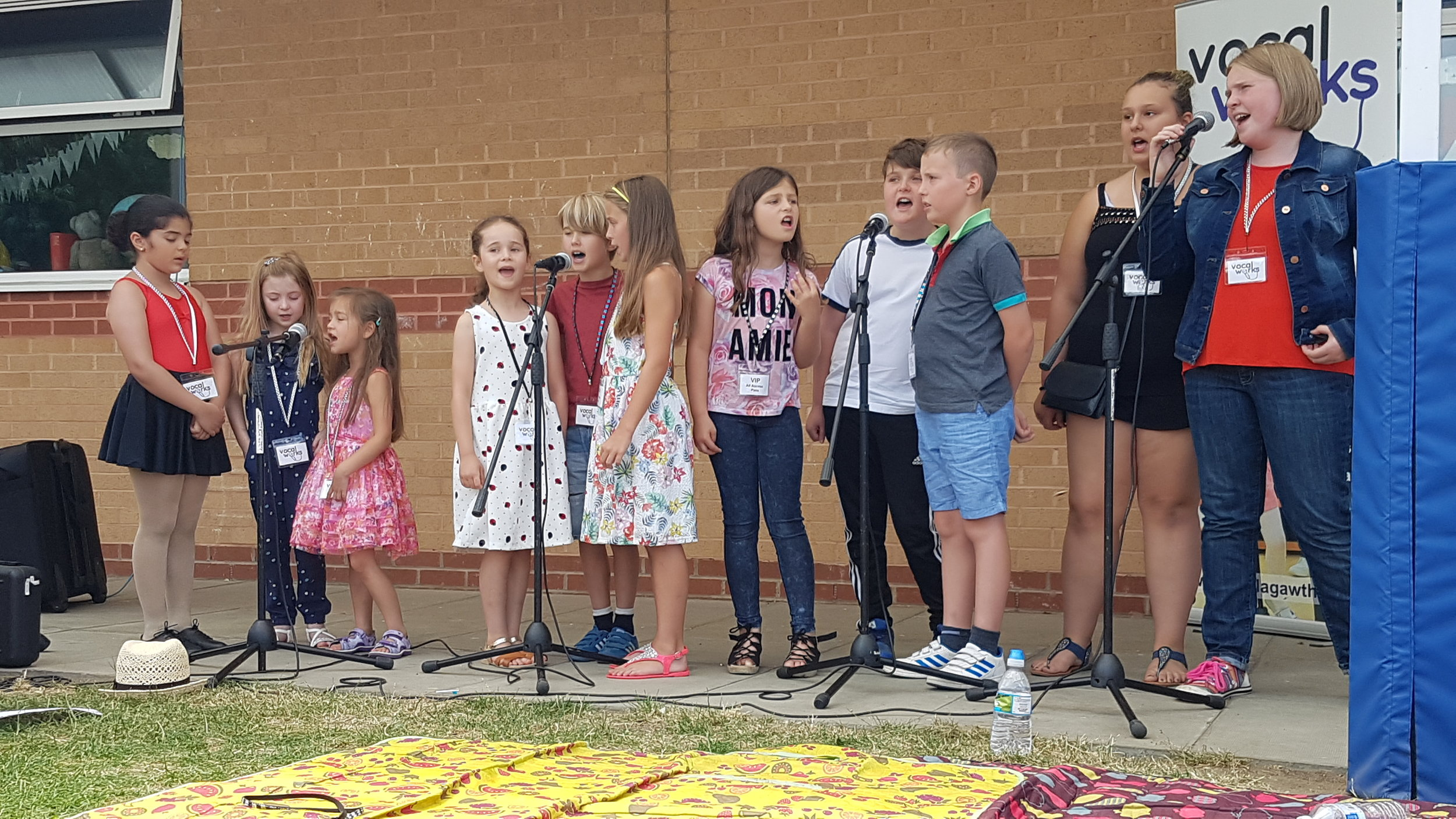 Performing at a local fete