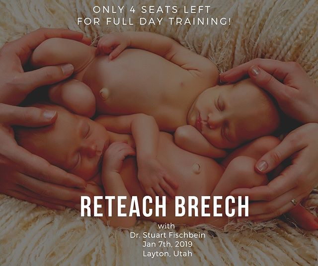 An amazing opportunity to learn vaginal breech from the the very best! Dr. Stu Fischbein is an incredible OB who has been practicing 30+ years and has been devoted to natural vaginal breech birth. He's coming over from CA to share his wisdom. Tickets are running out fast, there are now only two full-day seats left! Go to @miraclemidwifery link in bio or miraclemidwifery.com for tickets!
