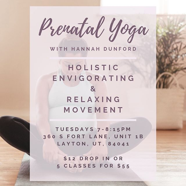 A great way for our community of pregnant, postpartum (and all) women to work up a healthy and happy sweat! You'll also experience breathing exercises for pelvic floor health, mindful movement and meditation. Located in Layton, this class will begin January 8th. Can't wait to see y'all there! 🙏🧘‍♀️🙏