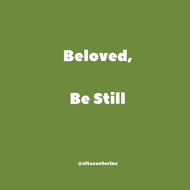 Be Still . Do you find yourself running at an unmanageable pace because of the holidays? 💚 . The holidays are a beautiful time to spend with your loved ones but remember that your physical, your heart should never feel overwhelmed. ♥️- . Be still & infuse yourself with peace.