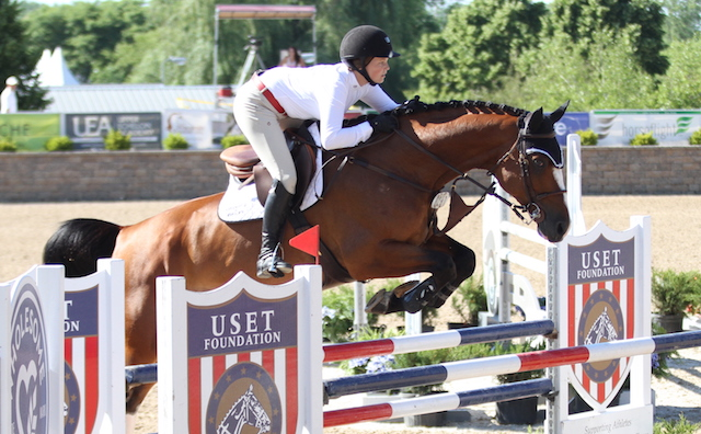 Briley Koerner and Listano B, owned by BKS Horse Farms LLC took the class.