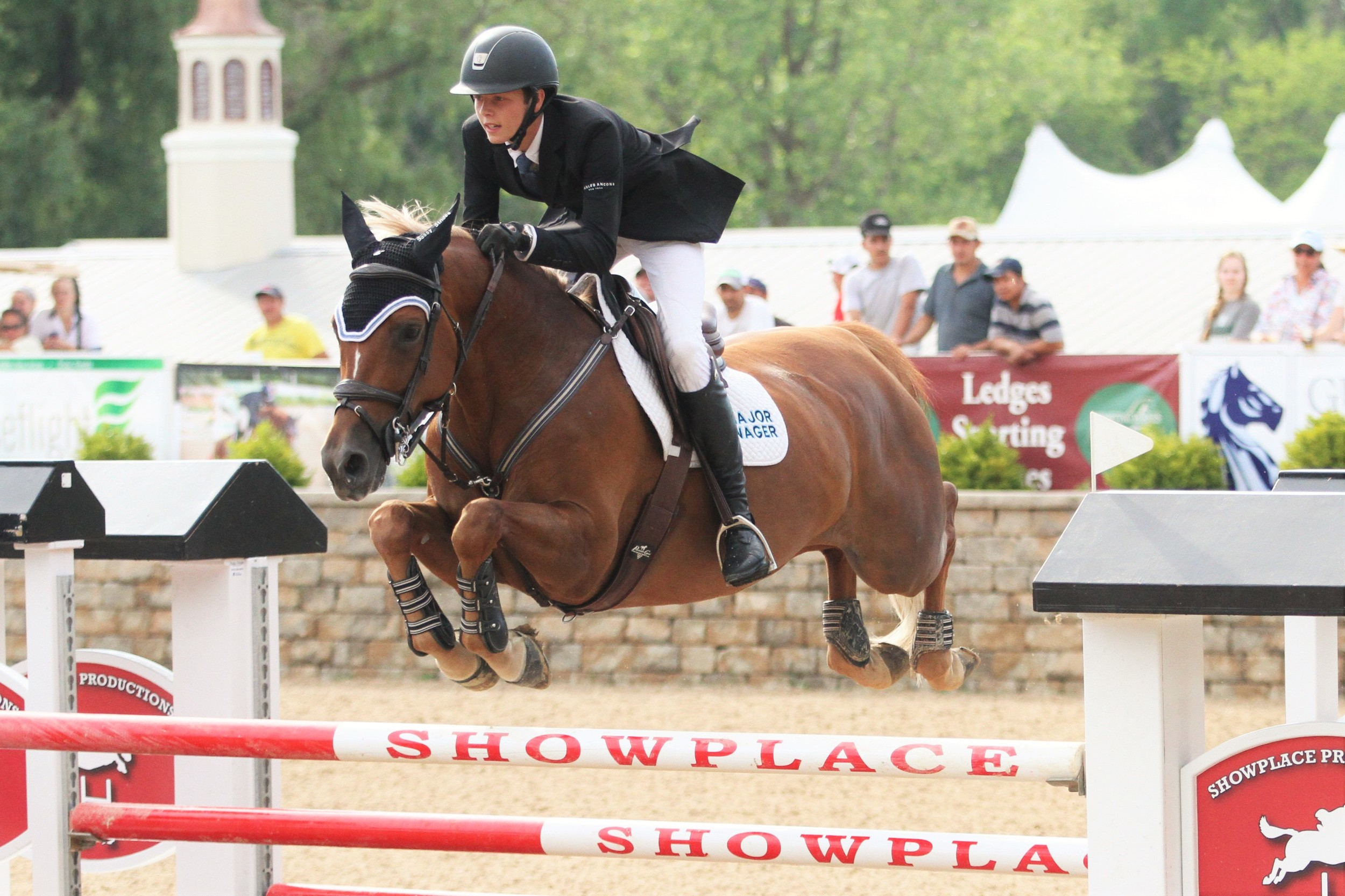 Brian Moggre aboard MTM Flutterby, owned by Major Wager LLC was the youngest competitor in the $40,000 Adequan® Grand Prix