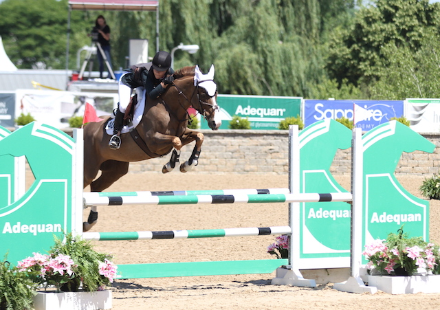 Rapidash owned and ridden by Hailey Royce  won the classic and were reserve champions of the divisio   $5,000 NAL Childrens Jumper Classic