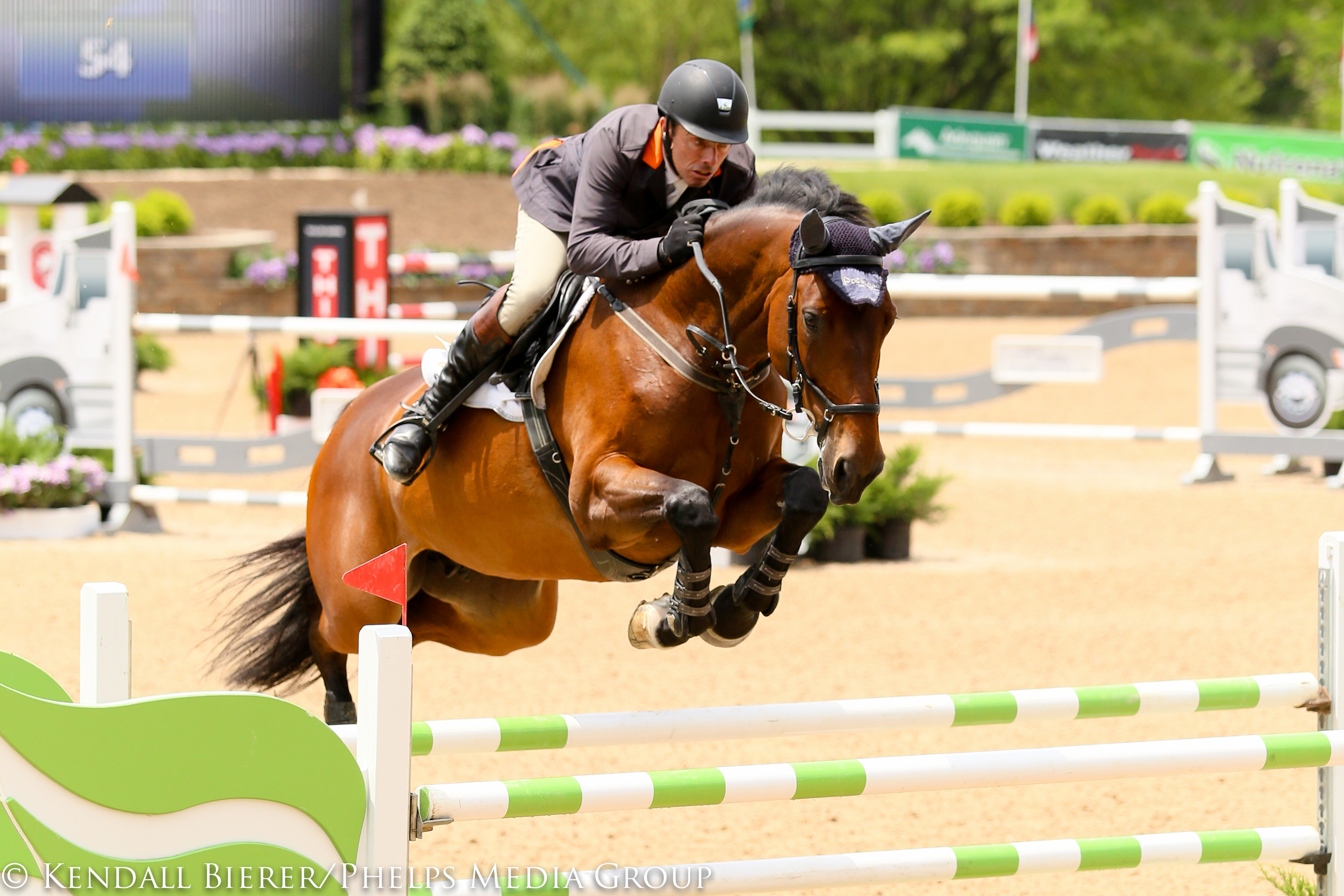 Wilhelm Genn and Welcome Cor are winners of multiple grand prix events.                                  Photo by Kendall Bierer