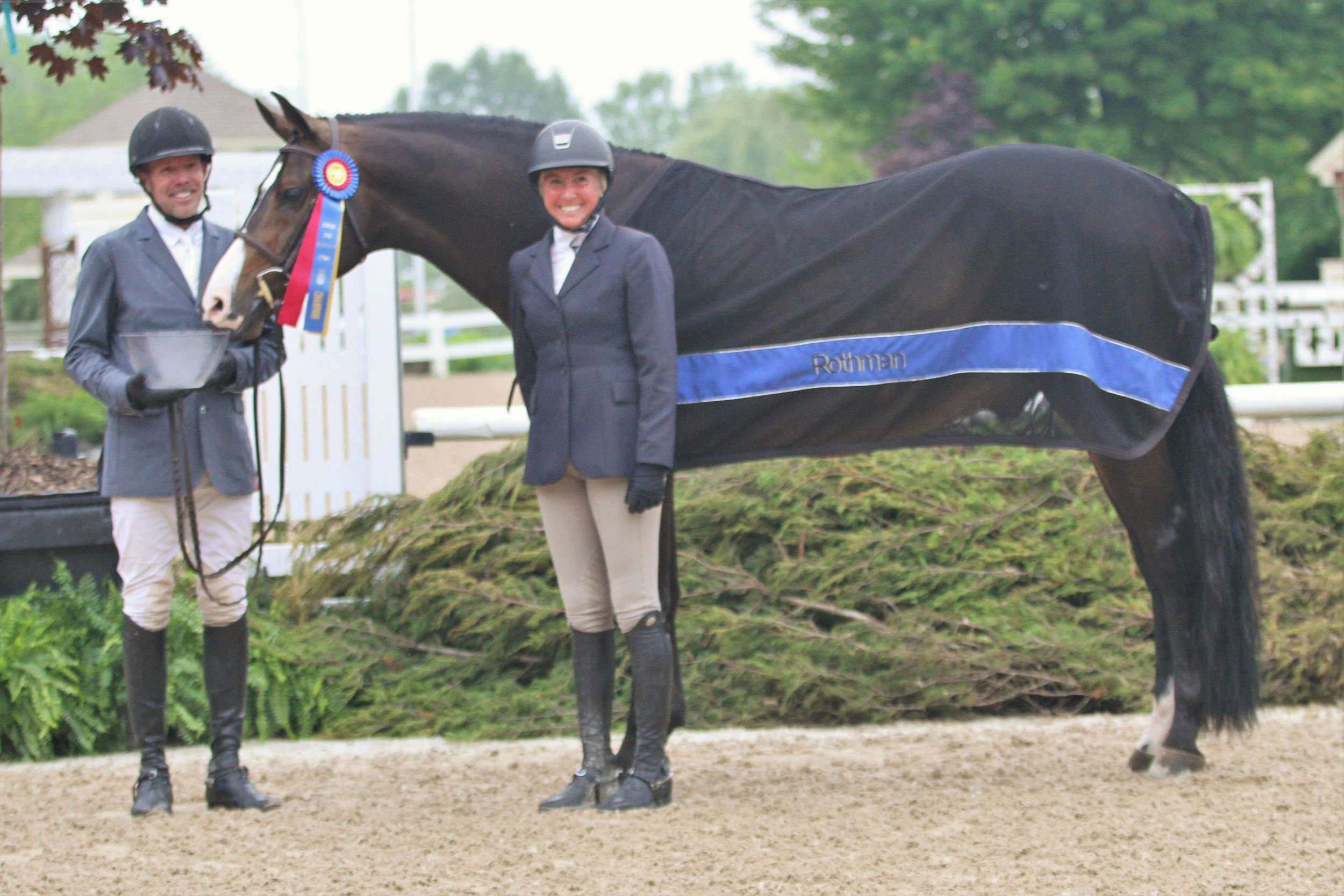 """Performance Working Hunter 3'6"""" Calido's Son, owned by Mimi Rothman, ridden by Douglas Boyd"""