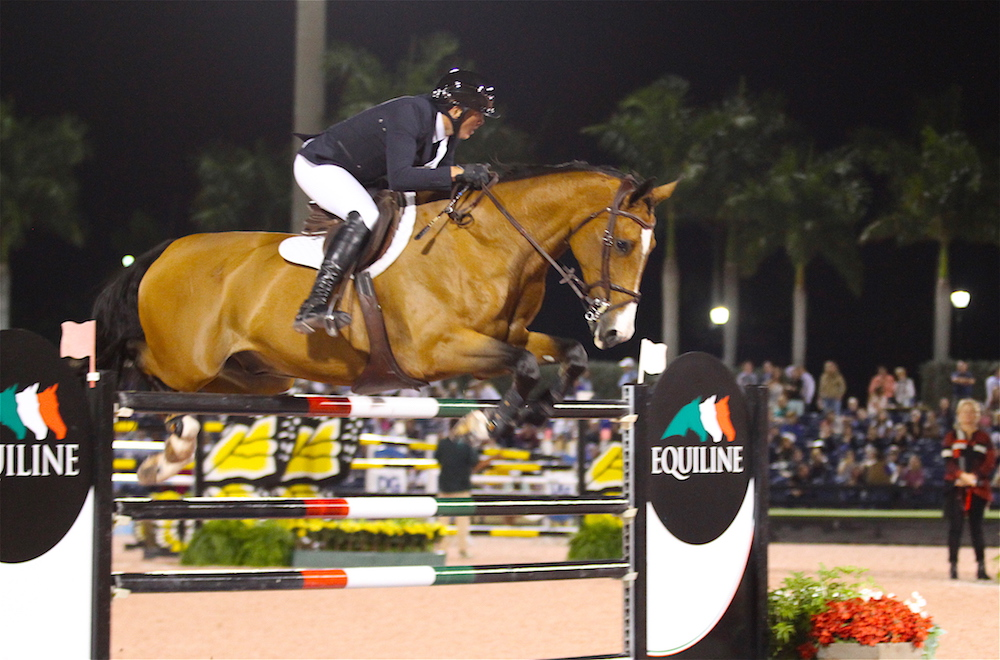 Freddie Vazquez and Bachelor 4 compete in the $216,000 Holiday and Horses FEI CSI 4*