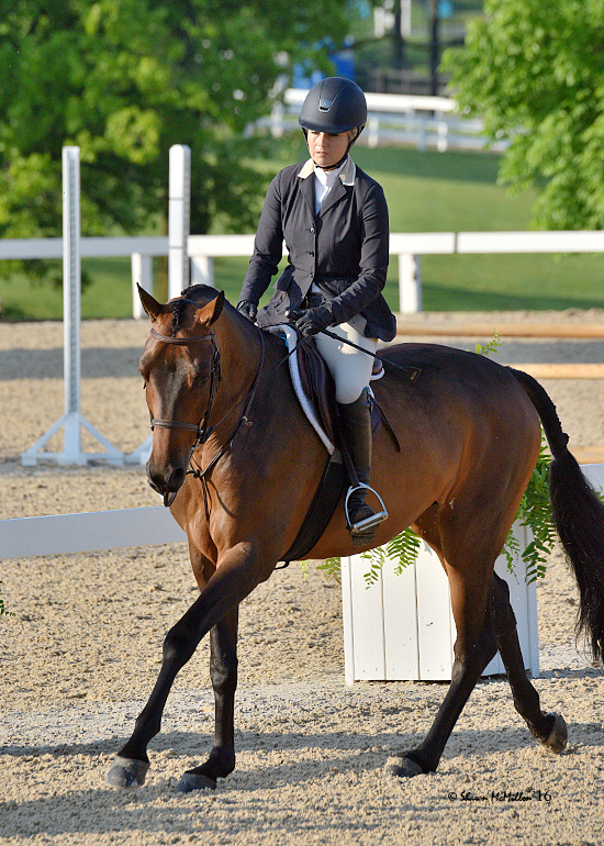 Jodi Vazquez and Quiloo always looking correct in her Samshield helmet, Charles Ancona show coat and Parlanti boots. Photo by Shawn McMillan Photography.