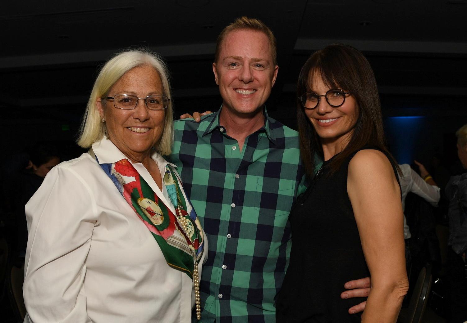 AEGT Week III judges Linda Zang, Ron Davis and Carol Cohen Hodess. DDeRosa photo.