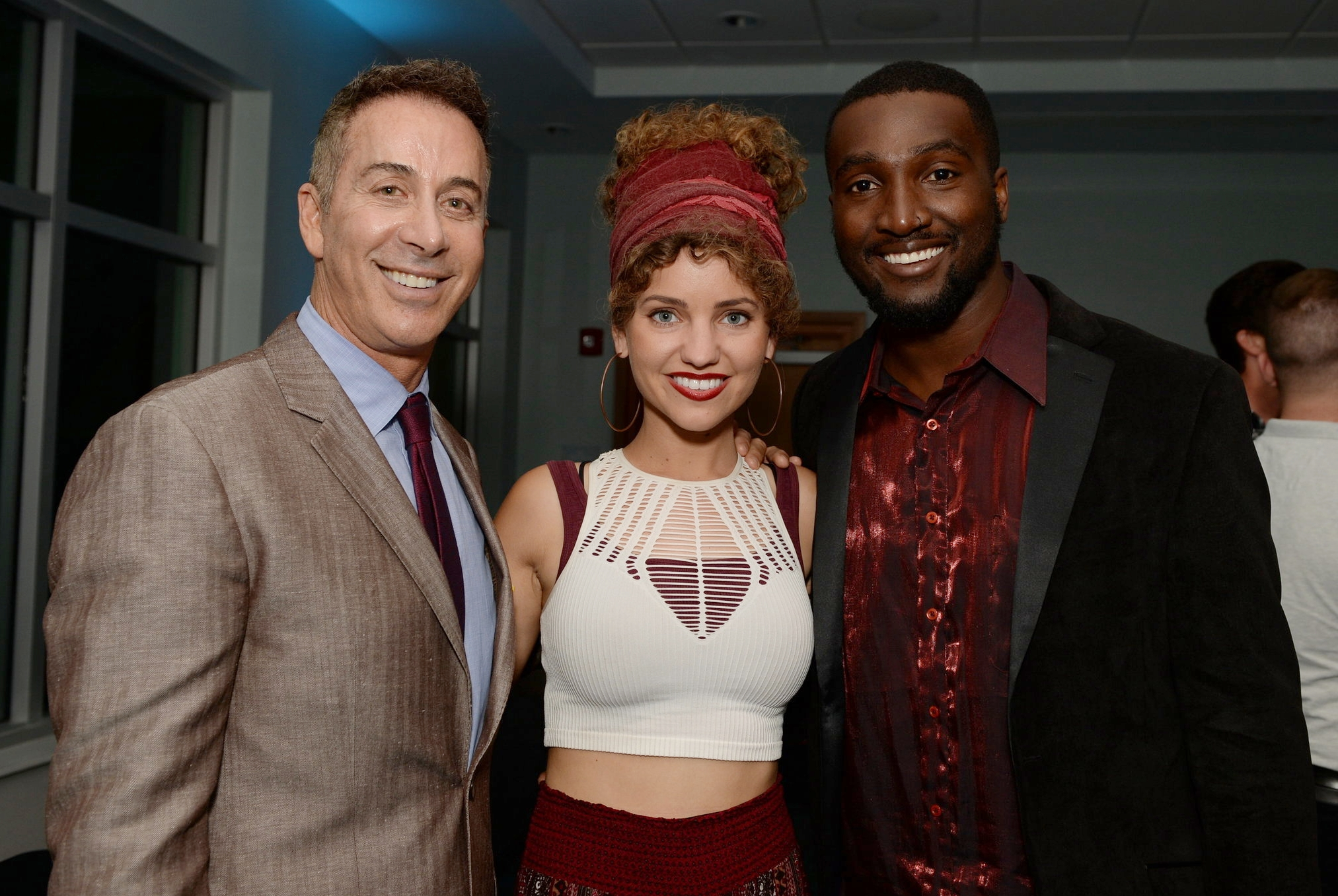 Robert Dover with Olivia and David Willis, two of the opening acts for AEGT Week III. DDeRosa photo.