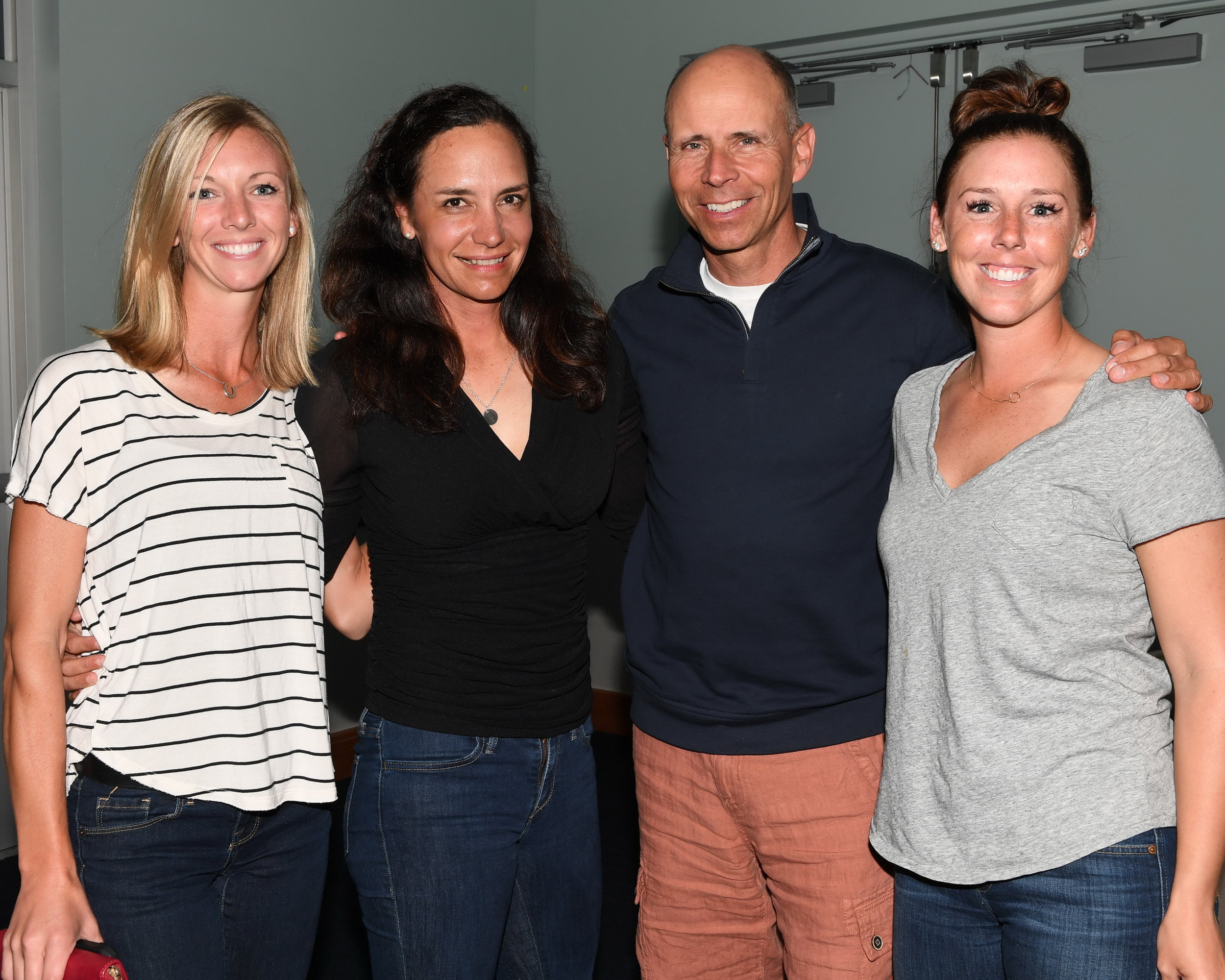 Olympic bronze-medal Team USA, Laura Graves, Allison Brock, Steffen Peters and Kasey Perry-Glass were in the AEGT house. DDeRosa photo.