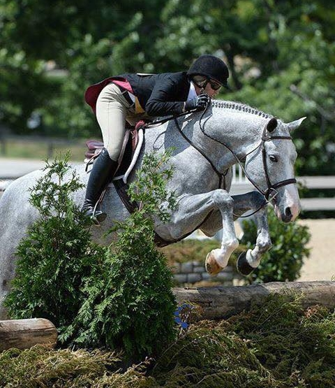 Tiffany Morrissey and Sebastian won the USHJA National Derby at Country Heir II at the Kentucky Horse Park. Photo by Anne Gittins Photography