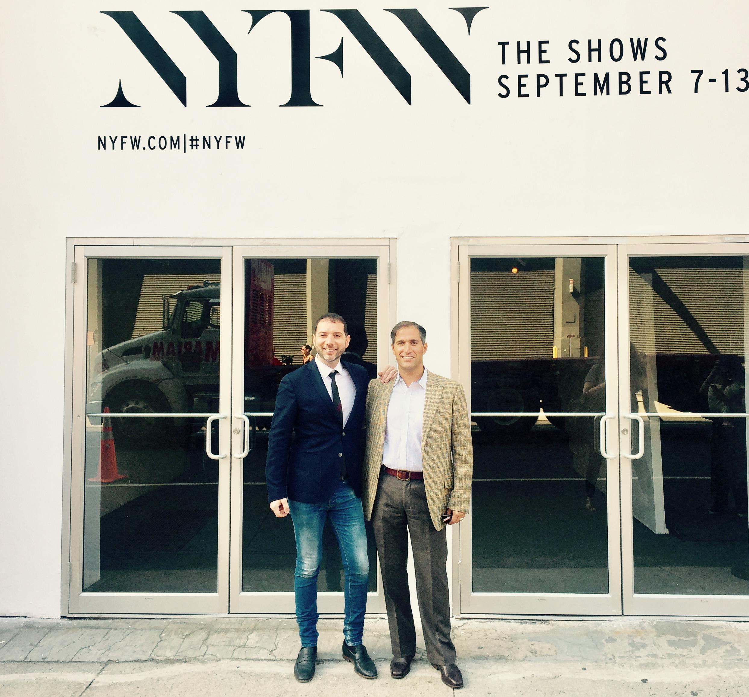 Francesco Iannelli and Joseph Costa at New York Fashion Week.