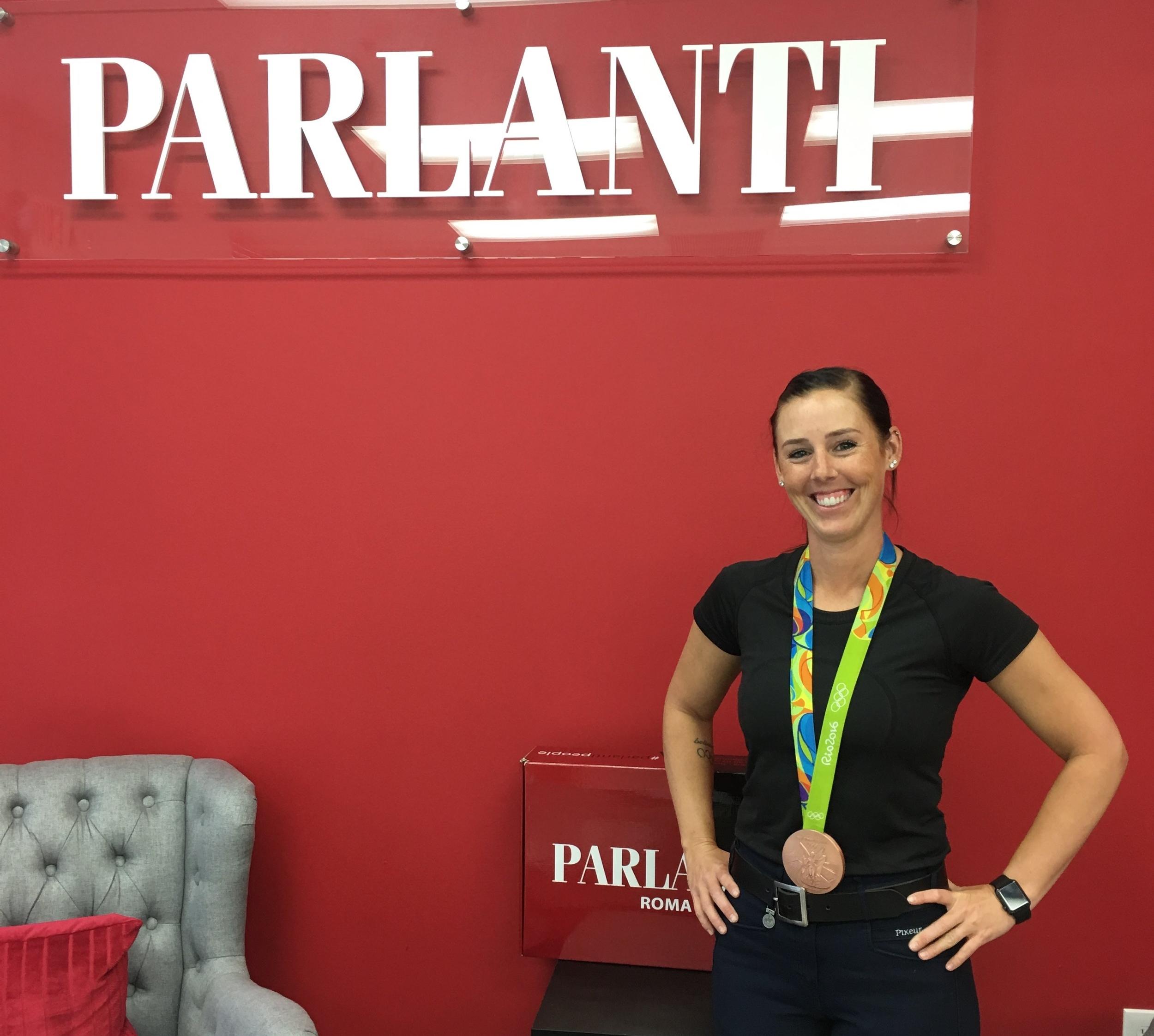 Kasey Perry-Glass at the Parlanti Internatioanl headquarters in Wellington.
