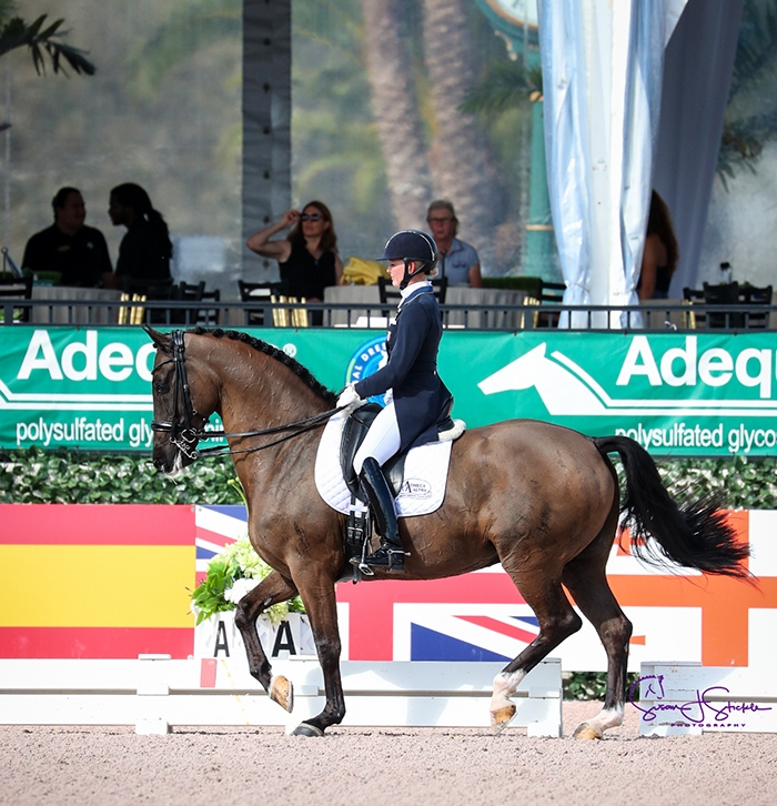 Parlanti ambassador Katherine Bateson-Chandler and Alcazar. Photo by Susan Stickle Photography