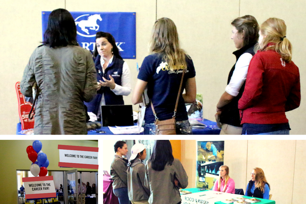 At the 2017 IHSA Nationals in Lexington, Kentucky, companies like SmartPak and Rood & Riddle met with students. Photos by Kristen Drew