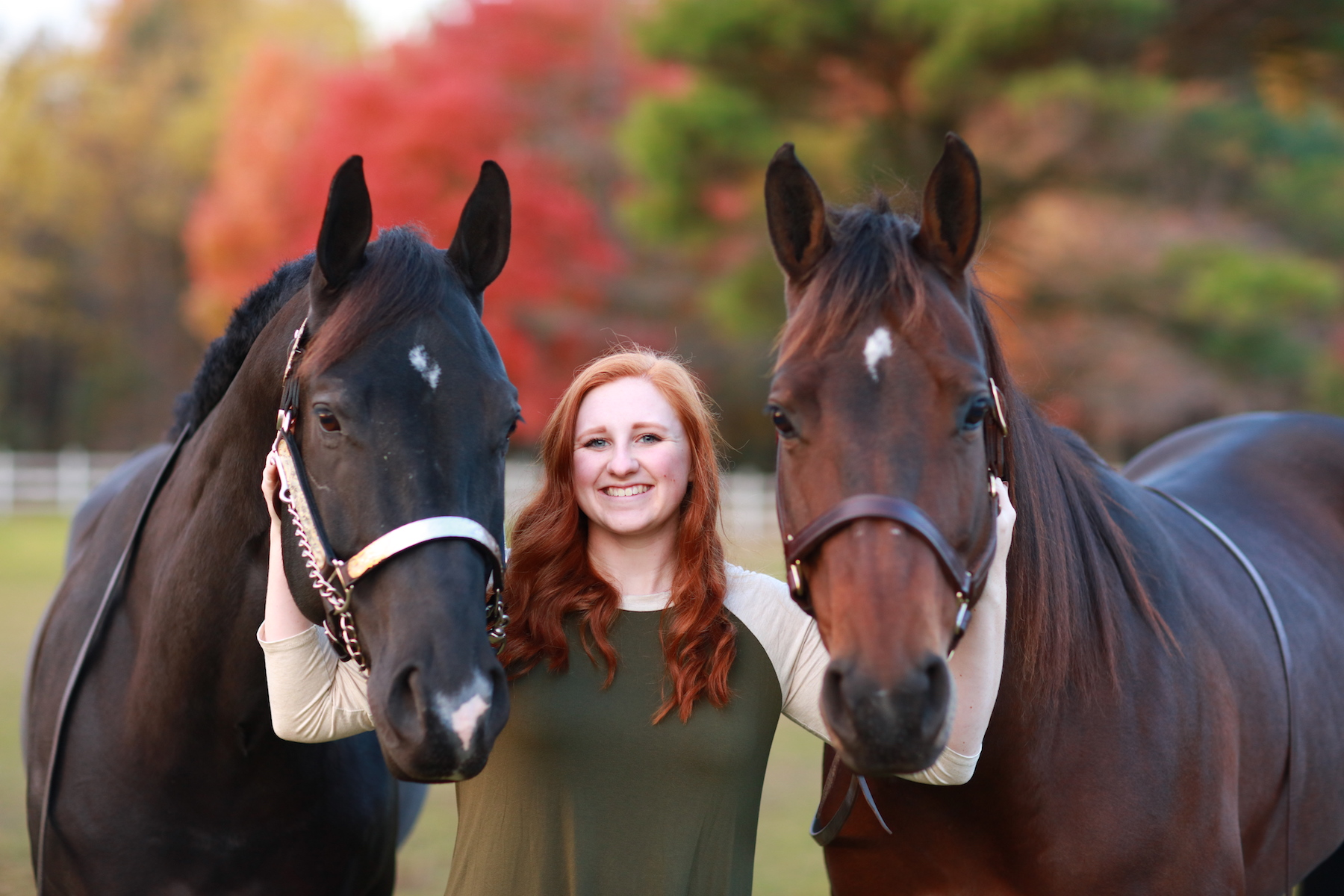 Lily Atkinson with Truman and Harley. Photo by Synergy Photographic