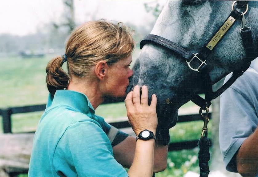 Kim Meier and her horse of a lifetime Test Run .  Photo courtesy of Kim Meier