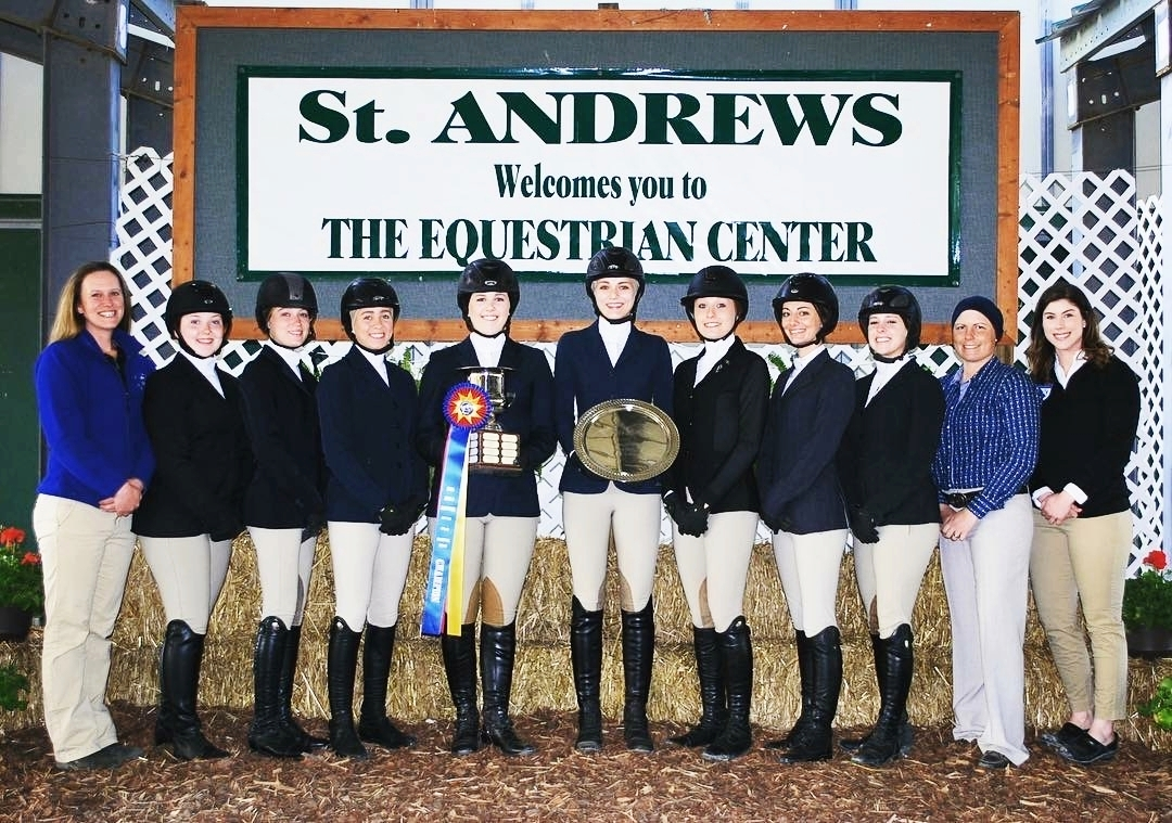 The St. Andrews Equestrian team won the Zone 4 championship. Photo by Pebbles Turbeville