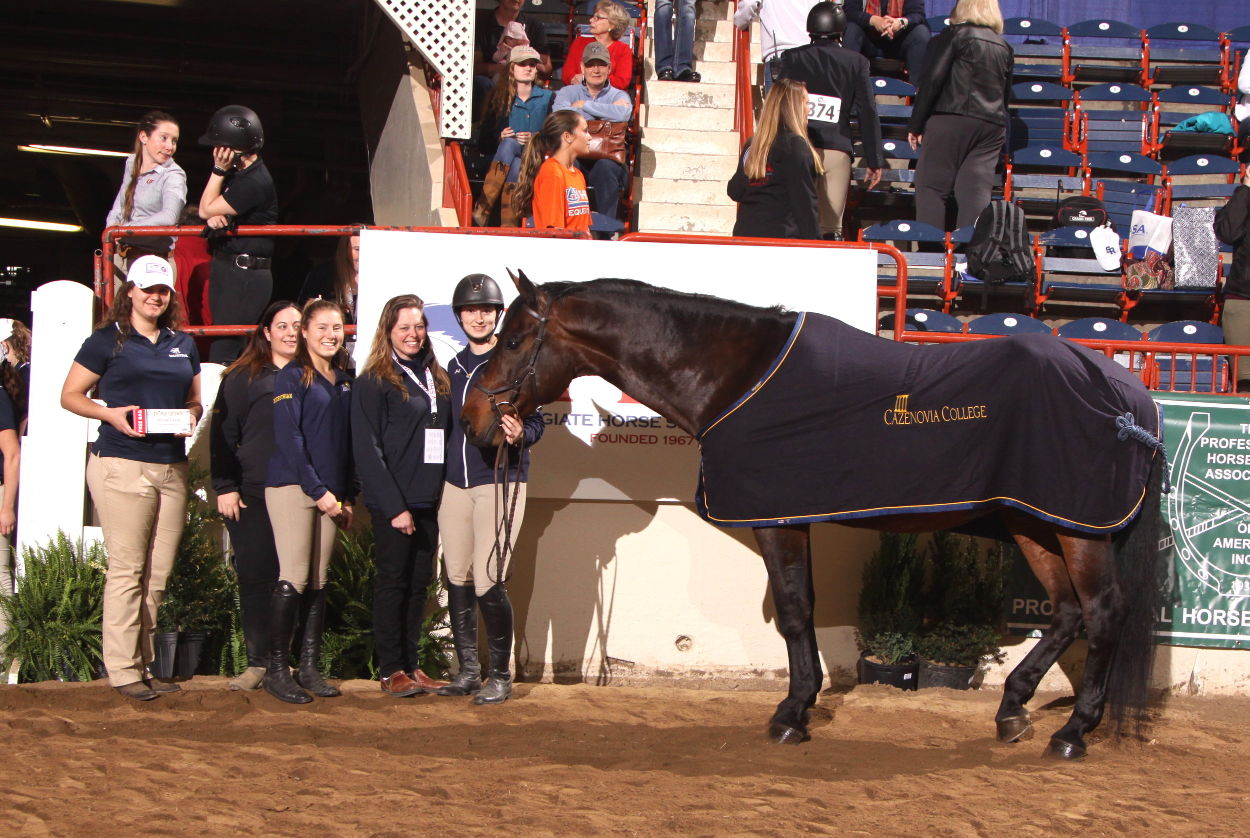 Collins, owned by Cazenovia College was awarded the Triple Crown High Point Hunter Seat  Horse