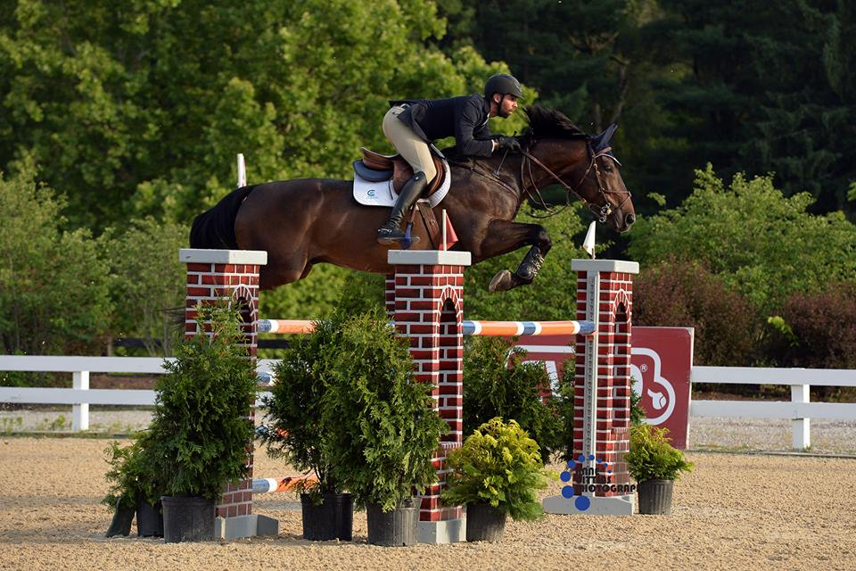 Javier Berganza Anderhu and Idefix De Laubry won in the $10,000 1.40m Welcome Prix. Photo by Anne Gittins Photography