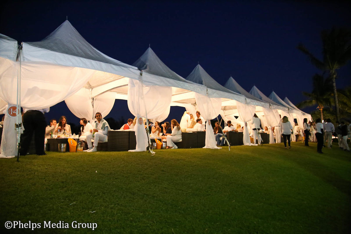 The Cabanas provide the perfect vantage point from which to enjoy Brooke USA's Sunset Polo™ Photos by Phelps Media Group