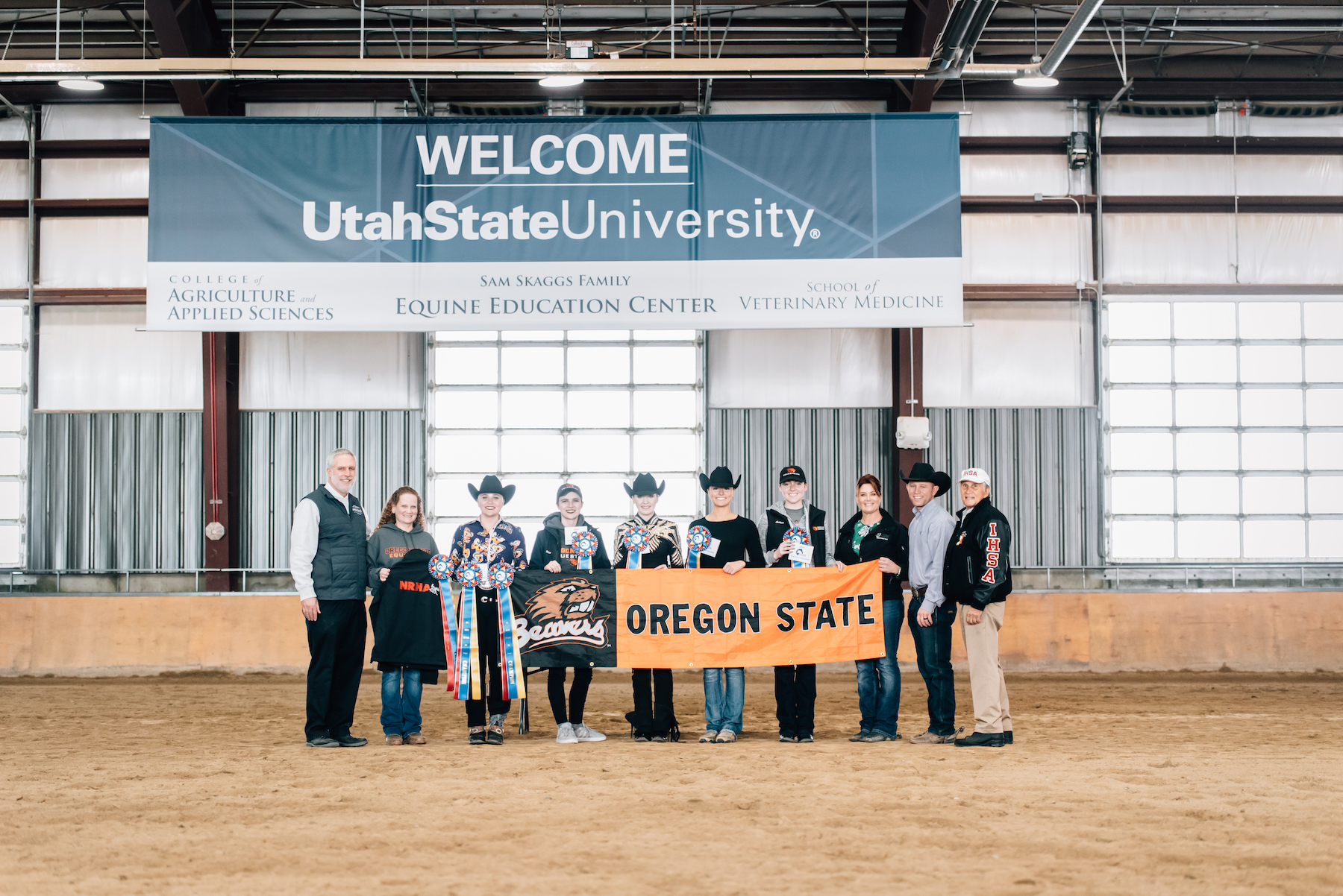 The Oregon State University team, coached by Dawn Ross, took the top  prize at the Western Semi-Finals hosted by Utah State University. Photo  by Lauren Anderson