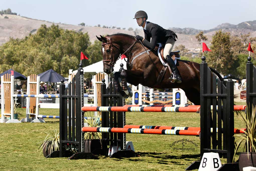 Michael Andrade from Centenary University at the Platinum Performance USEF Talent Search West Finals. Photo by Captured Moment Photography