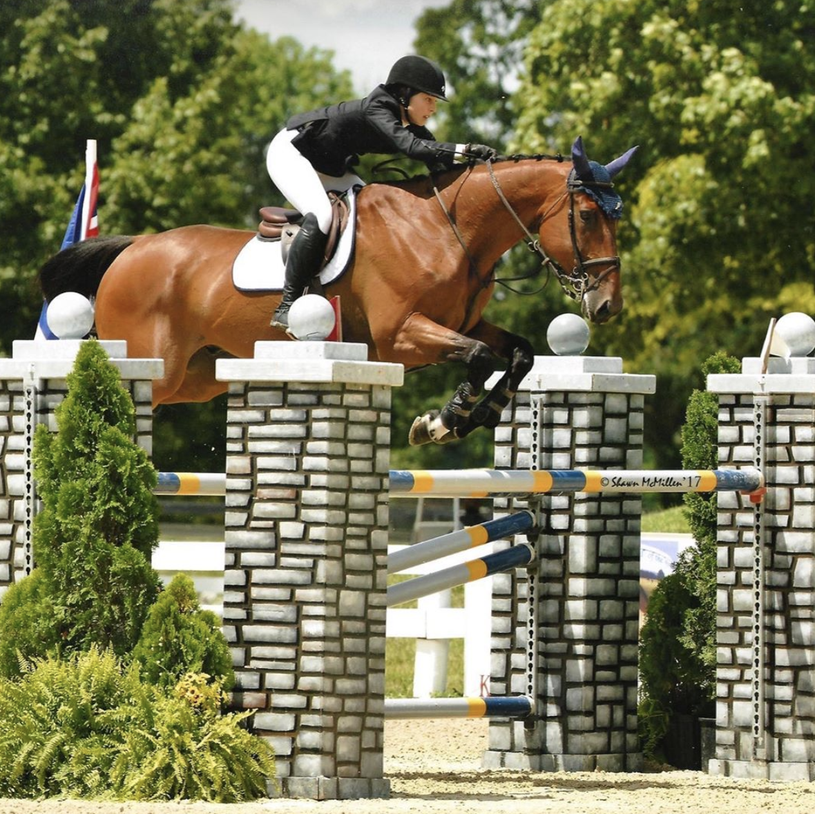Lizzy Traband from Penn State University competing at the Kentucky Horse Park. Photo by Shawn McMillan