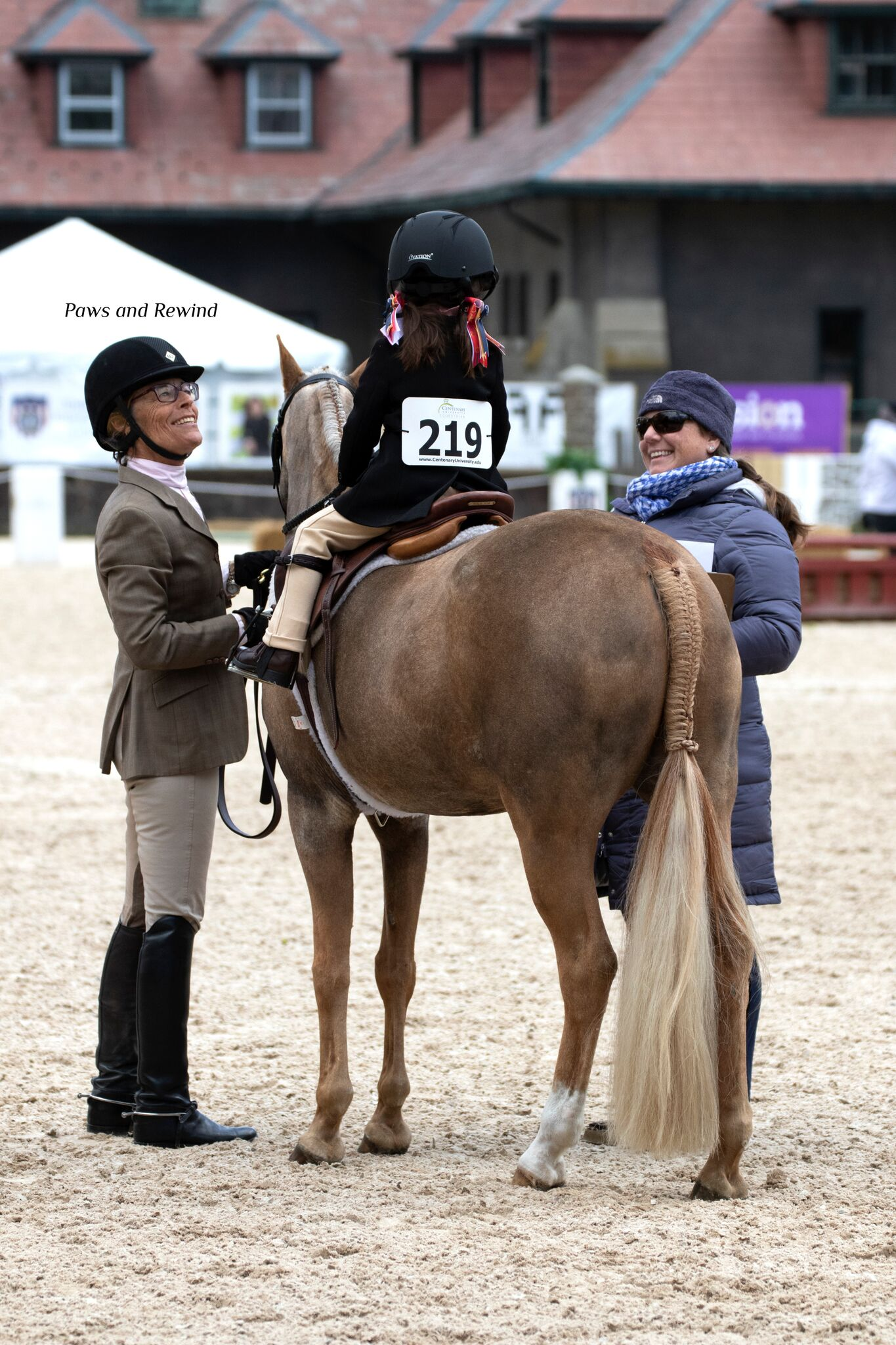 Leadline riders also took to the ring on the first day of competition. Photo By Paws and Rewind