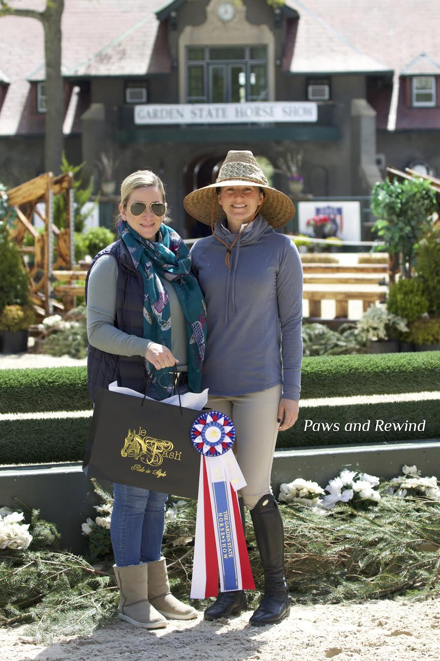 Style of Riding award winner Libby Dayton with Le Fash owner Arianna Vestino. Photo by Paws and Rewind