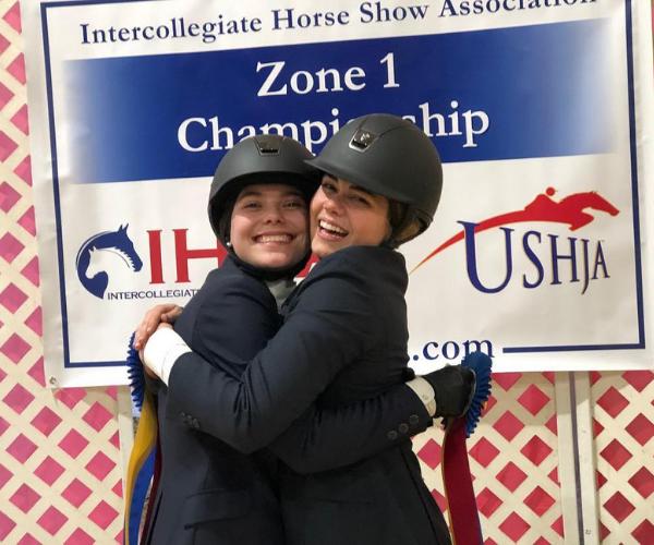 Alexandra Ferris and her competitor Elizabeth Sams. Photo courtesy of Alexandra Ferris