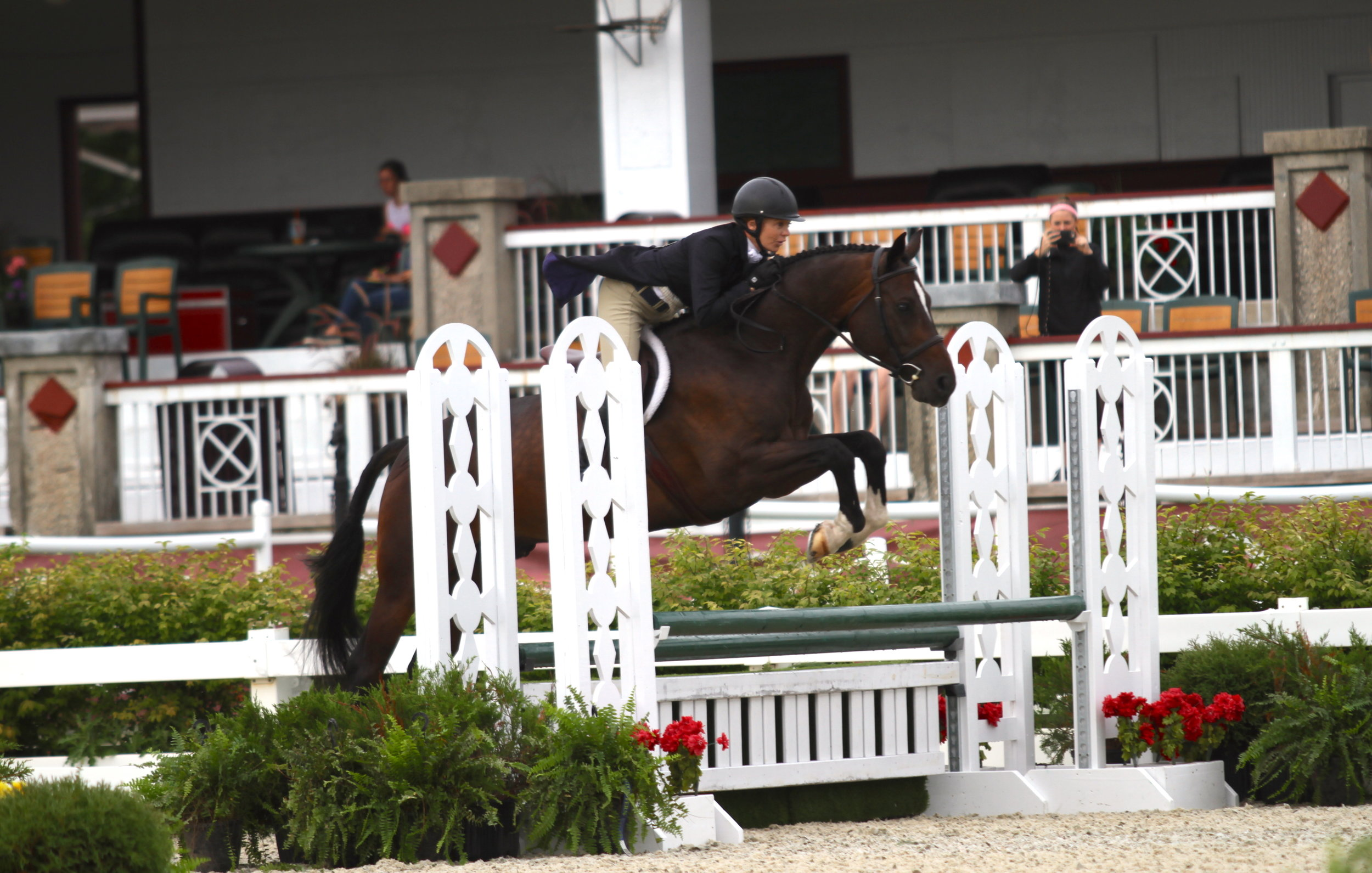 Sharon Golden and Cordiarado work together to bring home the gold in the Adult Amateur Hunter Individual Championship. Photo: EQ Media/USHJA