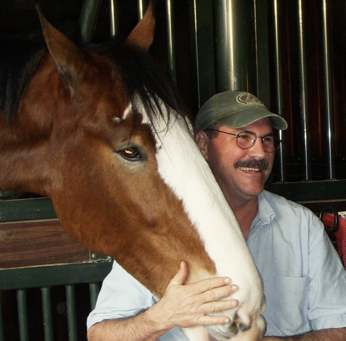 Jim Masterson with Bud. Photo courtesy of The Masterson Method.