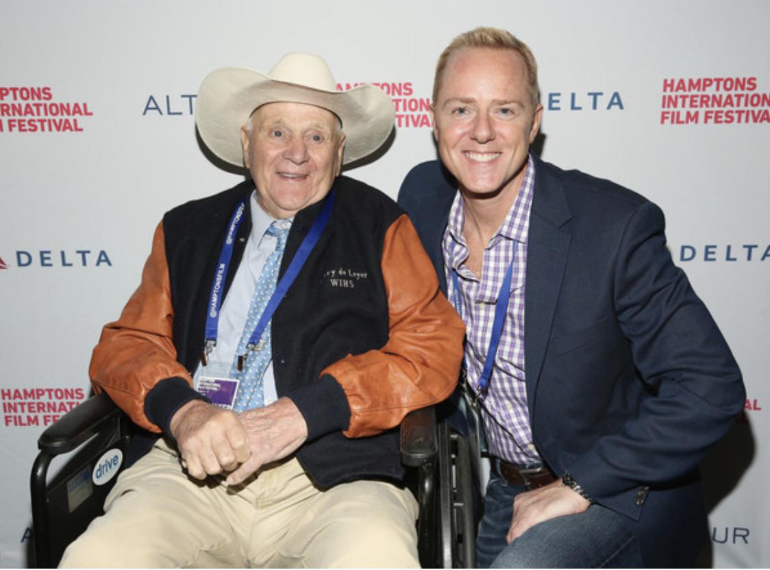 Harry de Leyer and Ron Davis at the Hamptons International Film Festival.
