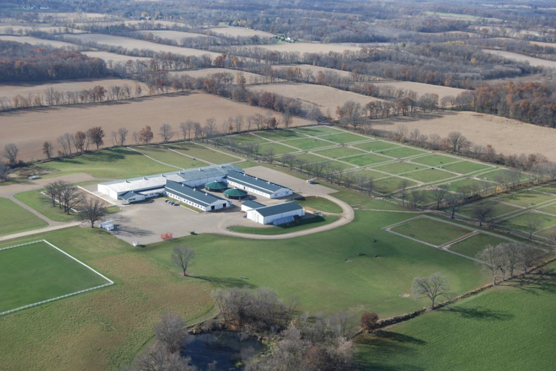 The Nancy G. Held Equestrian Center at Albion College. Photo courtesy of Albion College