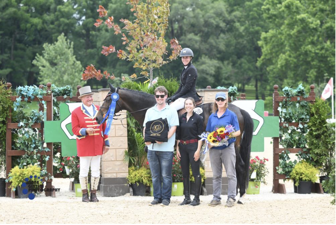 Summer Hill and Light Show enjoyed their second Country Heir I & II Grand Prix victory. Photo by Anne Gittins Photography