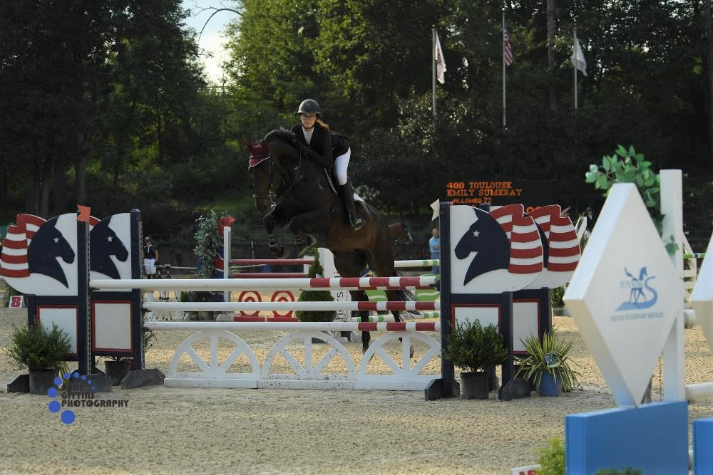 Emily Sumeray and Toulouse. Photo by Anne Gittins Photography
