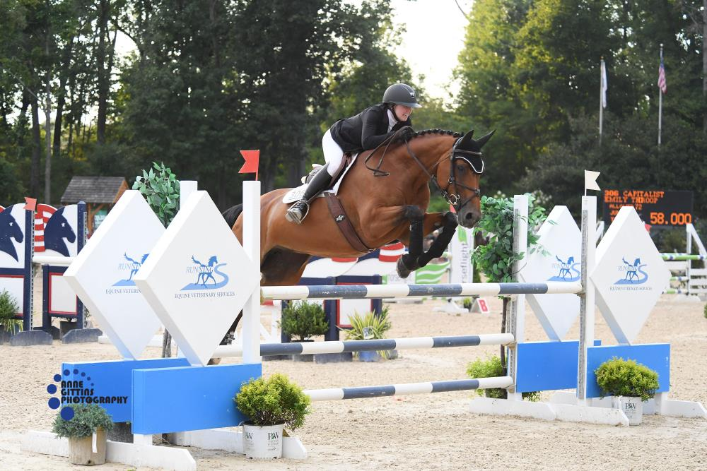 Emily Throop and Capitalist. Photo by Anne Gittins Photography