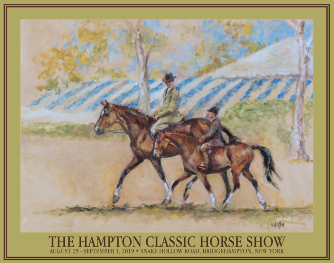 Kelly Wilkinson Coffin, 2019 Hampton Classic official poster artist