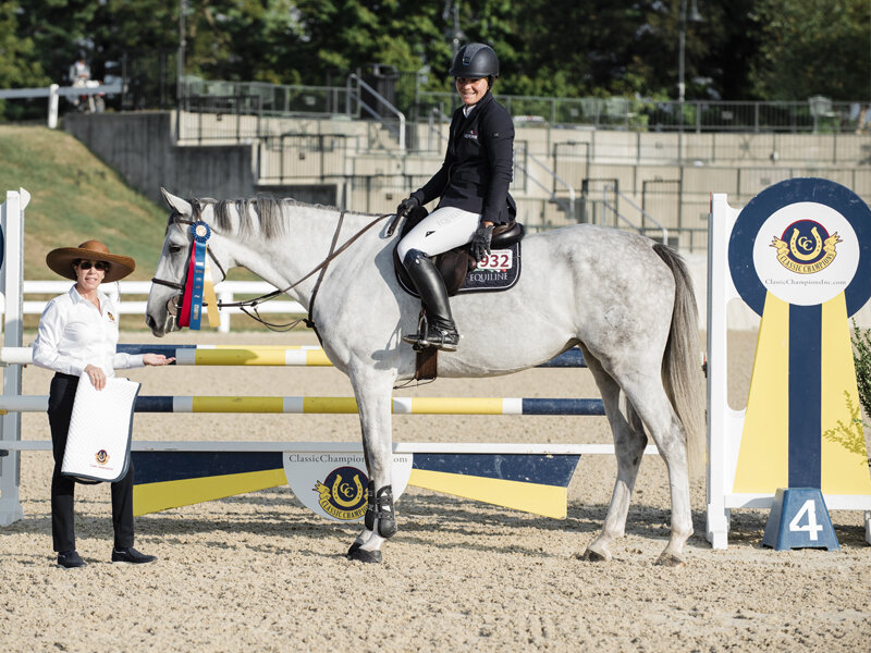Taylor Flury won the 4-year-old division aboard Palano ABF, who was given the Award of Distinction. Photo By EQ Media