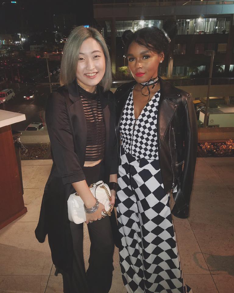 Annalé with Janelle Monáe.