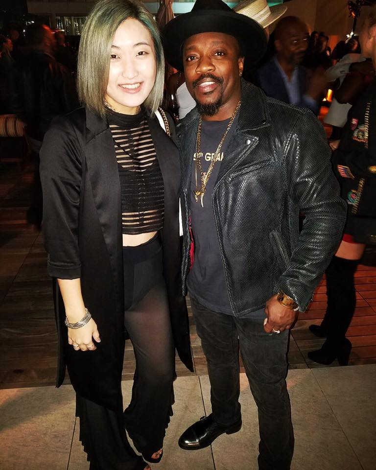 Annalé with Anthony Hamilton.