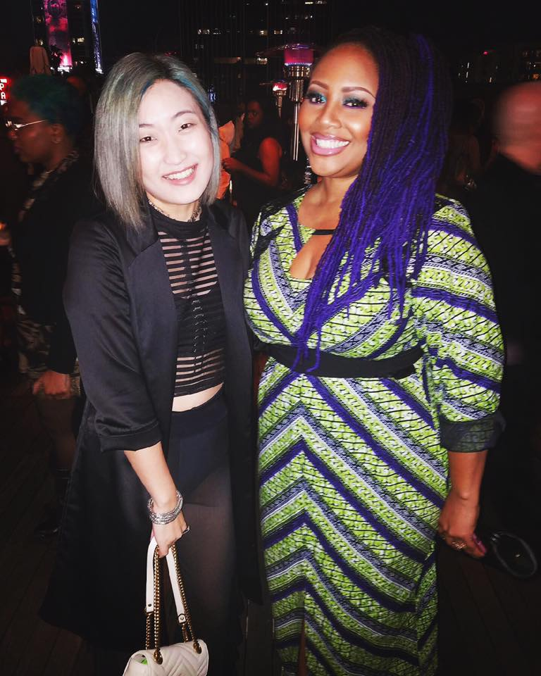 Annalé with Grammy winning artist Lalah Hathaway.